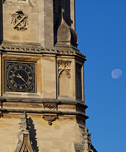 Image of the clock on Tom Tower