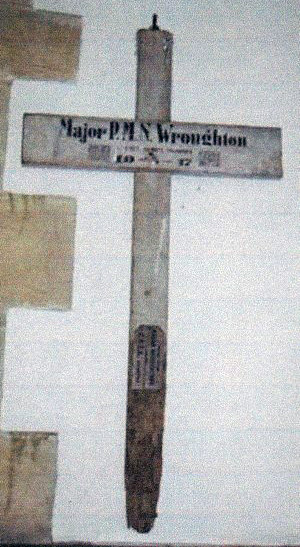 Cross from Major Wroughton's grave.