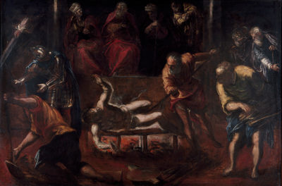 Jacopo Robusti Tintoretto's painting titled Martyrdom of St. Lawrence
