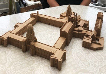 3D printed model of Christ Church