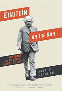 Cover of Einstein on the Run by Andrew Robinson