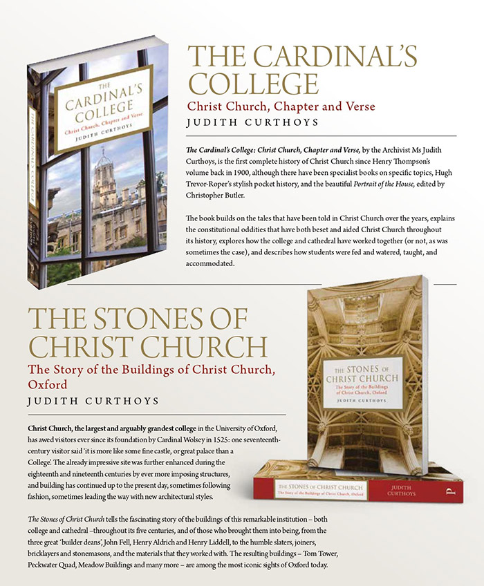 Promotional information about The Cardinal's College, and The Stones of Christ Church