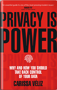 Cover of Privacy is Power by Dr Carissa Véliz