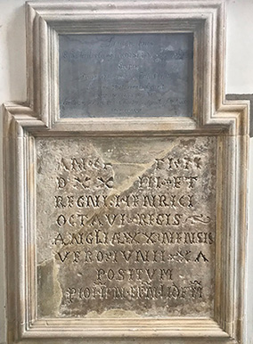 Inscription on a wall plaque