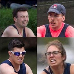 Some of the ChCh Boat Club rowers