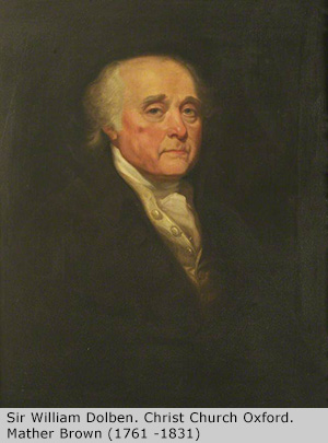 Portrait of Sir William Dolben, Christ Church, Oxford by Mather Brown