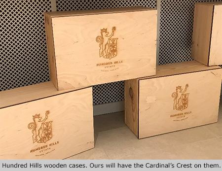 Hundred Hills wooden cases