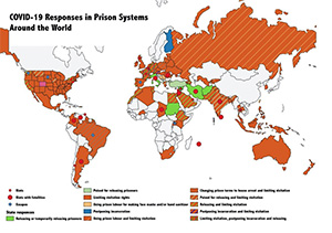 Graphic - COVID-19 Responses in Prison Systems Around the World