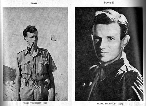 Two photographs of Major Frank Thompson