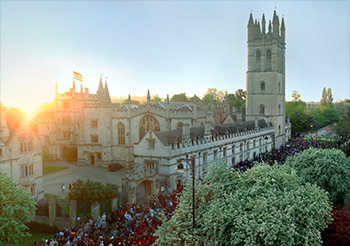 May morning view over Magdalen College