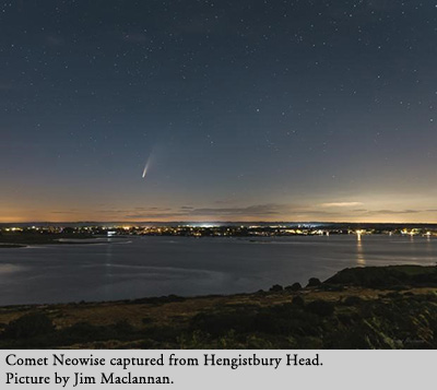 Comet Neowise captured from Hengistbury Head. Picture by Jim Maclannan.