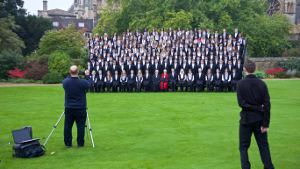 A matriculation photo being taken