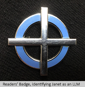 Readers' Badge, identifying Janet as an LLM