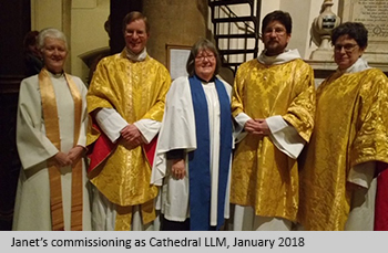 Janet's commissioning as Cathedral LLM, January 2018