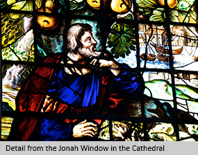 Detail from the Jonah Window in the Cathedral