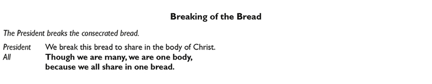 Breaking of the Bread