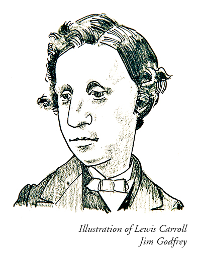 Illustration of Lewis Carroll by Jim Godfrey
