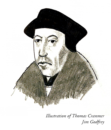 Illustration of Thomas Cranmer by Jim Godfrey
