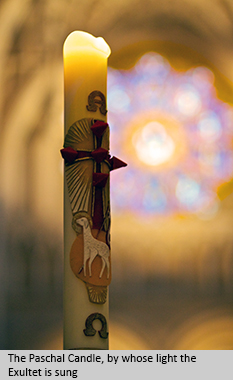 The Paschal Candle, by whose light the Exultet is sung