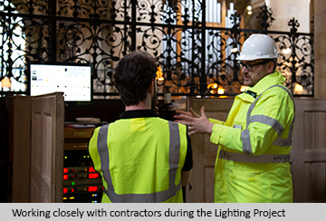 Working closely with contractors during the Lighting Project