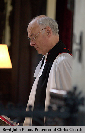 Revd John Paton, Precentor of Christ Church Cathedral
