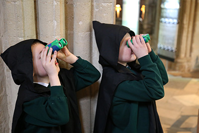 KS2 pupils in the Cathedral