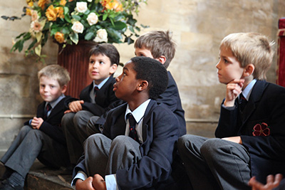 KS1 pupils in the Cathedral