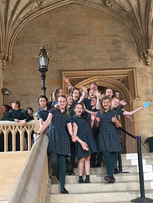 KS 3 - 4 pupils at Christ Church