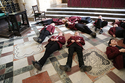 KS3 - 4 pupils in the Cathedral