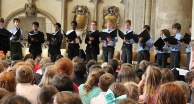 Christ Church Cathedral choristers at the outreach concert