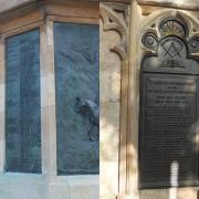 Details of two memorials to Viscount Quenington, both at Gloucester Cathedral. The one is for local Freemasons, and is in the Cloisters while the other reference is on the Royal Gloucestershire Hussars memorial in College Green (in front of the West Door)