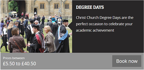 Book a degree Day