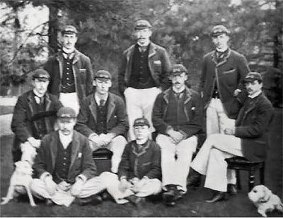 Fletcher – middle row, seated second from right – in the 1893 Oxford crew.