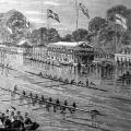 Commem. Procession, 1863. The Prince of Wales was present on the House barge - hence the Royal Standard alongside that of the ChChBC