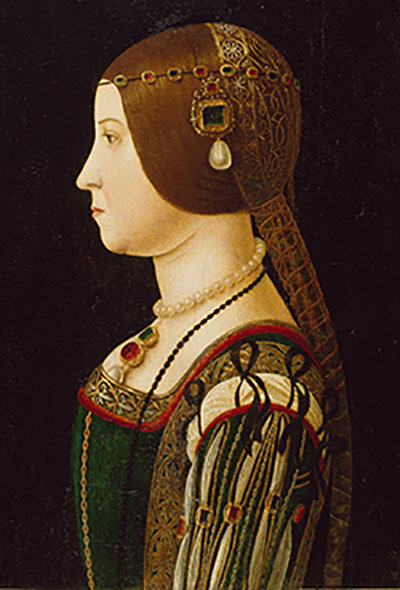 Detail of 15th century Lombard painting