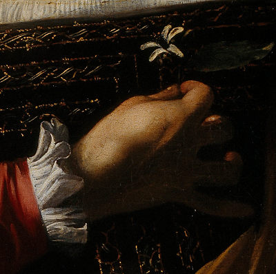 Detail of Caravaggio painting