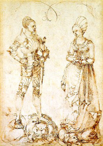 Albrecht Durer's Knight and Lady