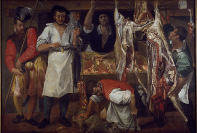 Annibale Carraci's paintings The Butcher's Shop
