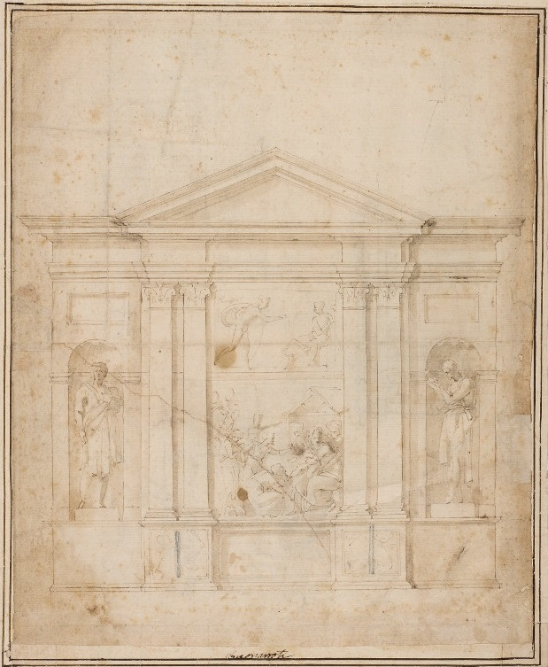 Drawing by Michelangelo Buonarroti (JBS 64r)