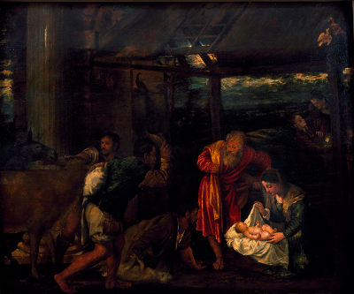 Possible Titian painting, Adoration