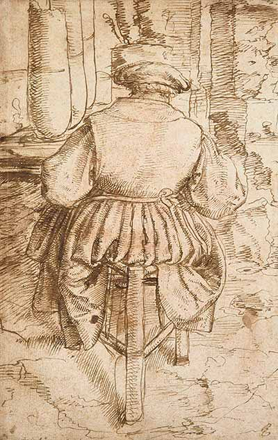 Detail of Netherlandish drawing