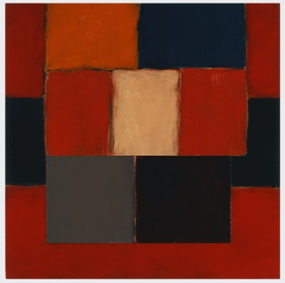Sean Scully's painting Falling Dark