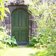 Door to the Deanery Garden, featured in 'Alice in Wonderland'.