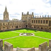 View of Tom Quad from above the north-west corner