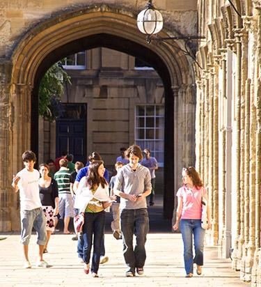 Students in Tom Quad