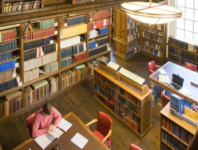 Students studying in the Library