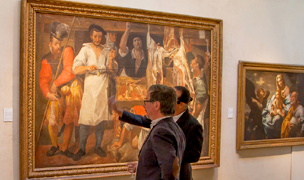 Visitors in the Picture Gallery