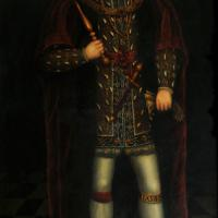 Portrait of Henry VIII in the Great Hall, attributed to John Taylor (LP 24). By permission of the Governing Body of Christ Church, Oxford.