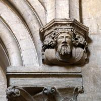 Corbel above the Dean's stall, featuring Henry VIII