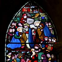 St Catherine, pictured teaching St Frideswide to read in the window by Edward Burne-Jones